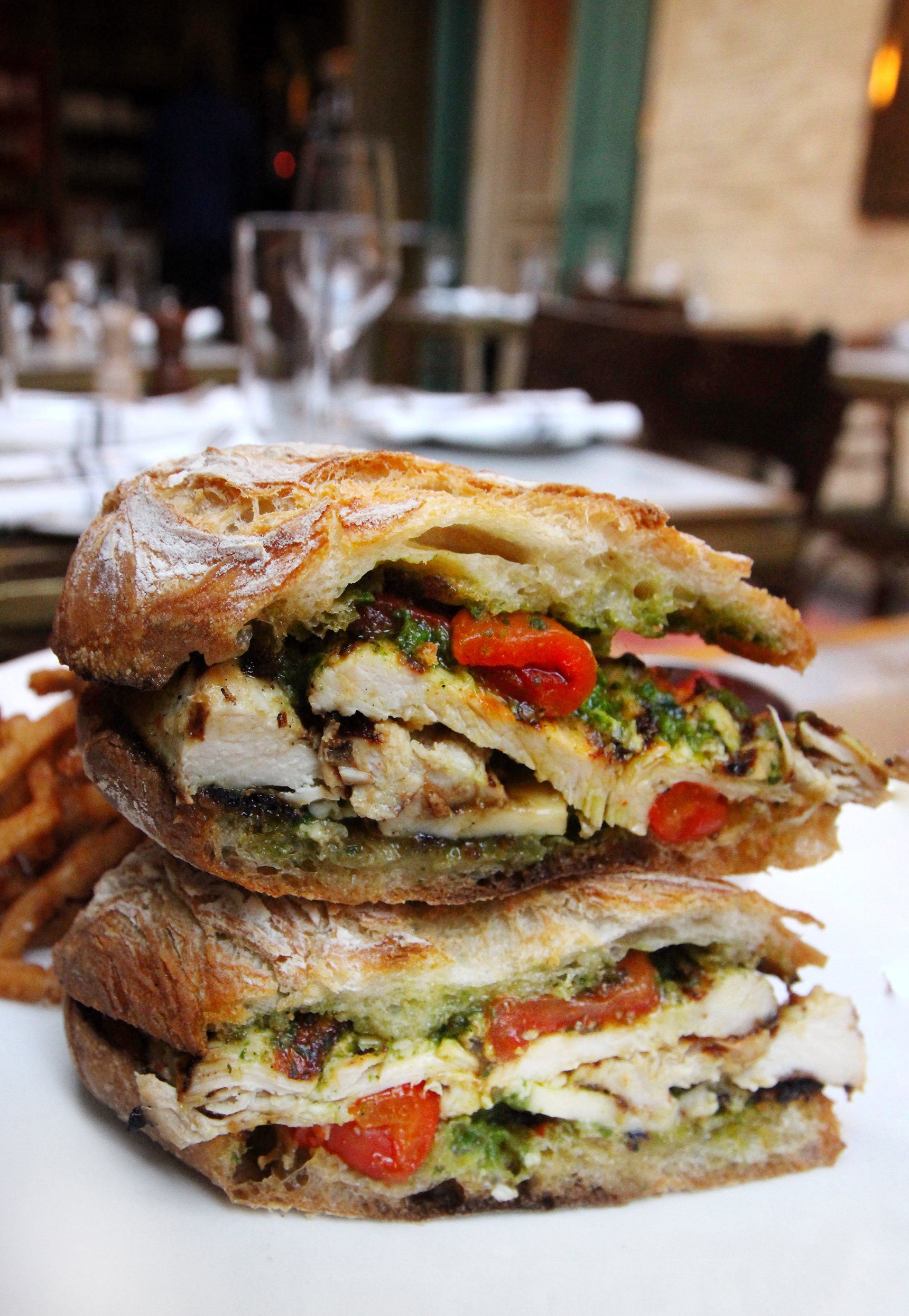 Grilled Chicken with Pesto Sandwich