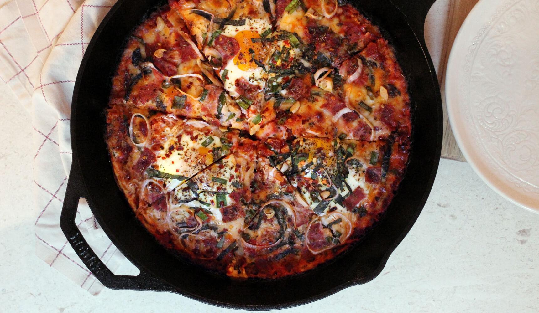 Potato Latke Brunch Pizza