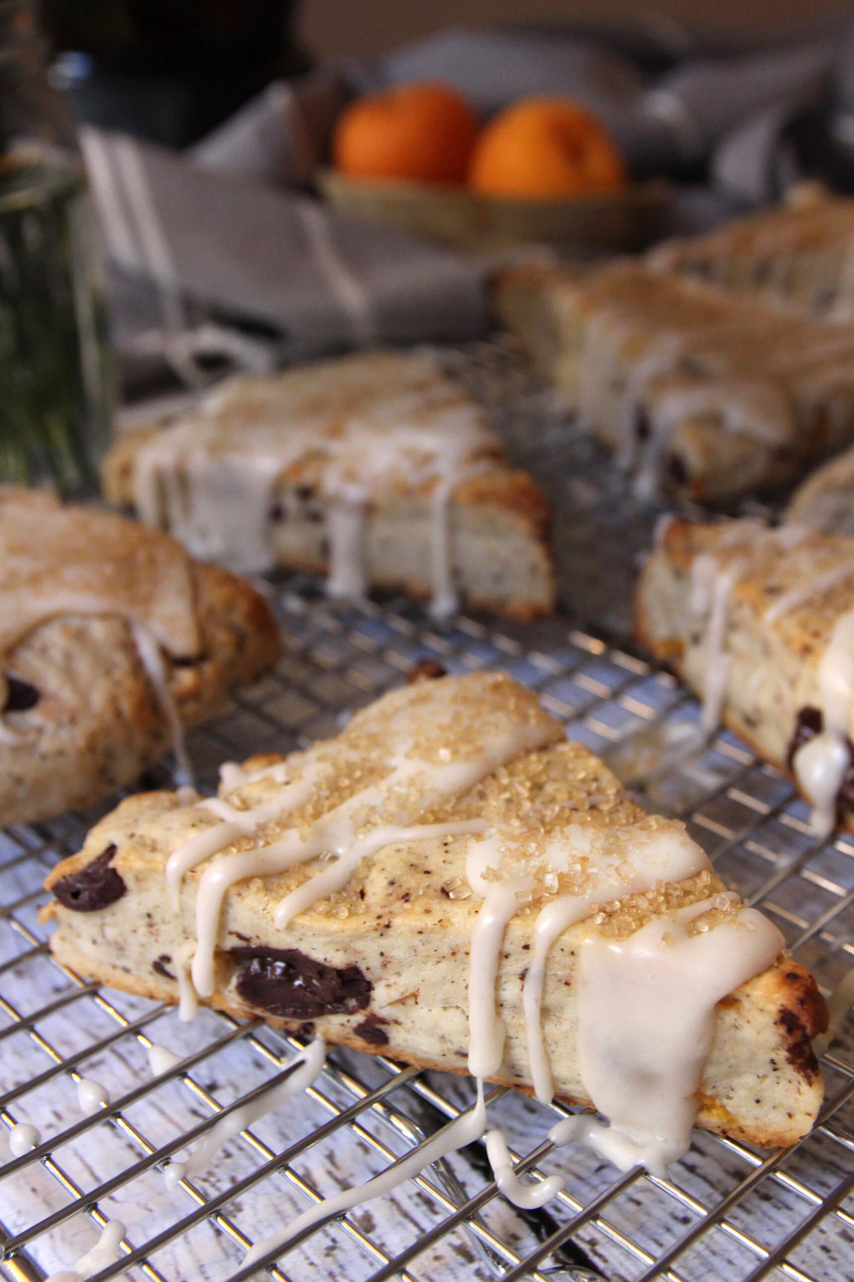Apricot And Chocolate Chunk Coffee Scones