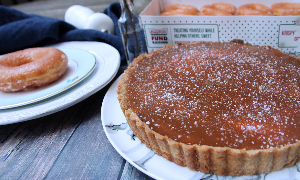 Krispy Kreme Salted Caramel Cream Tart