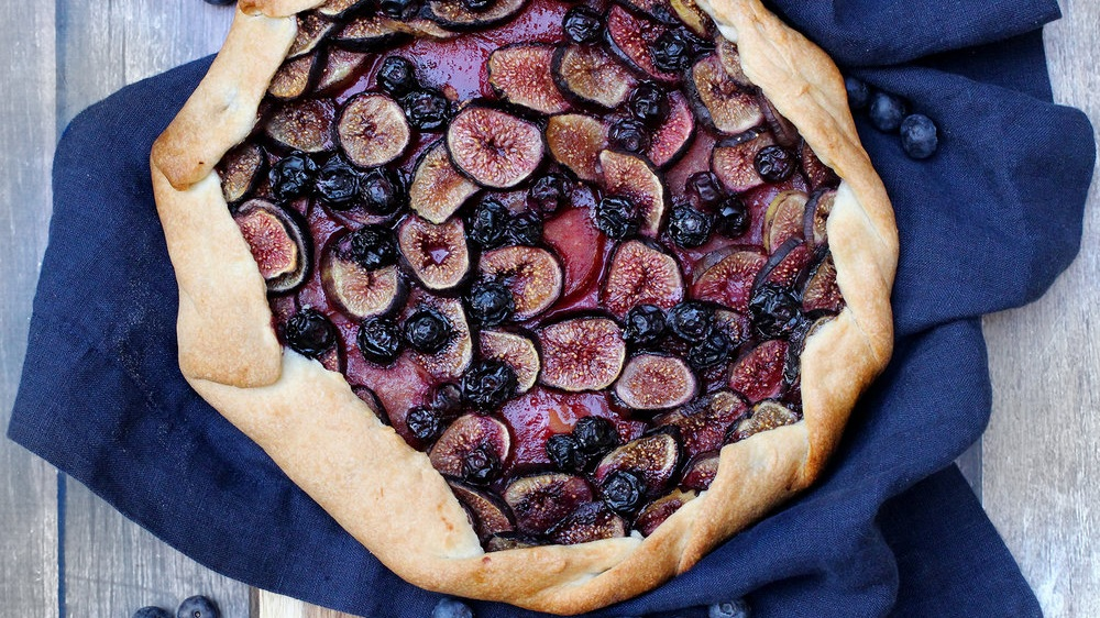 Fig Blueberry And Pluot Galette