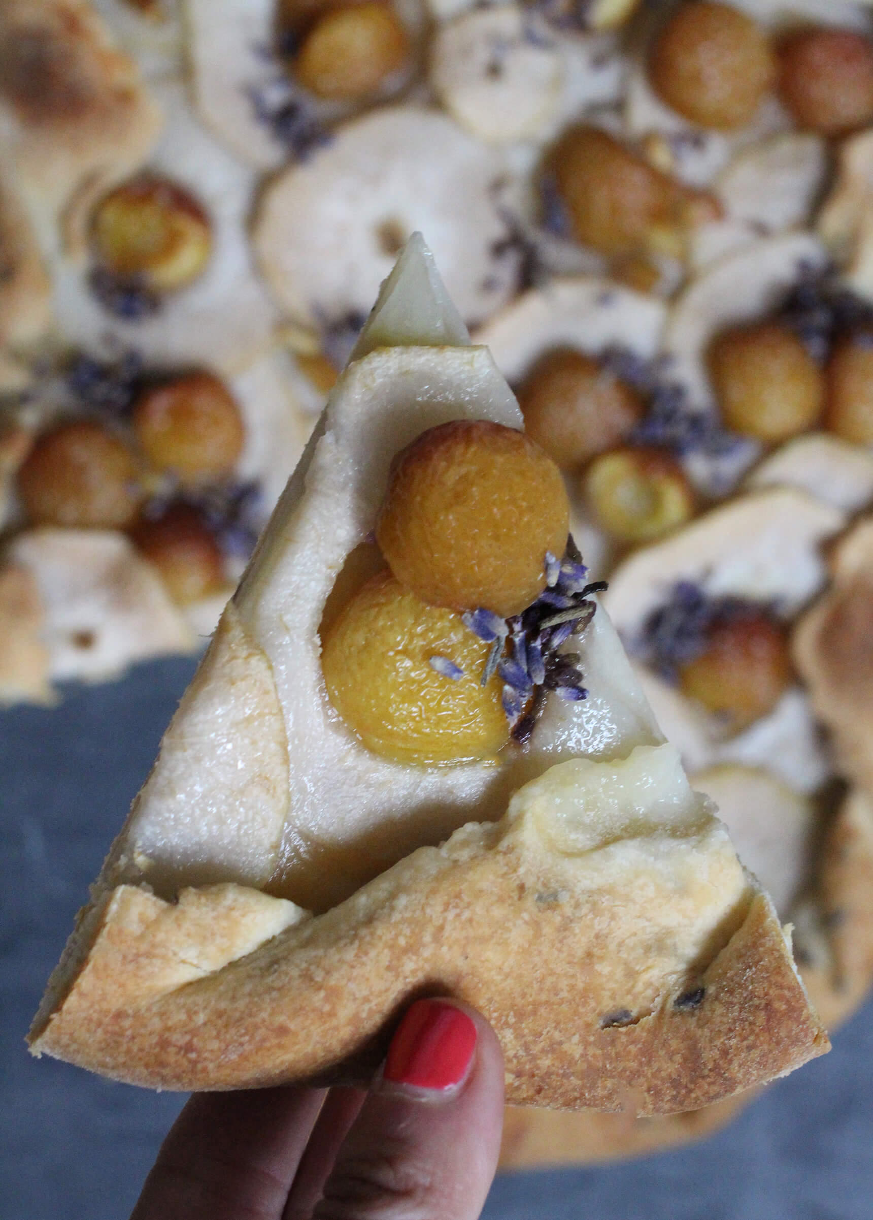 Lavender Pear And Cherry Galette