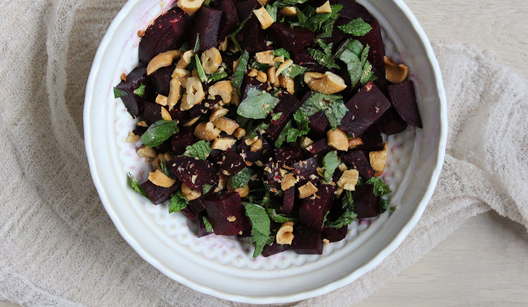 Roasted Beets With Basil And Mint