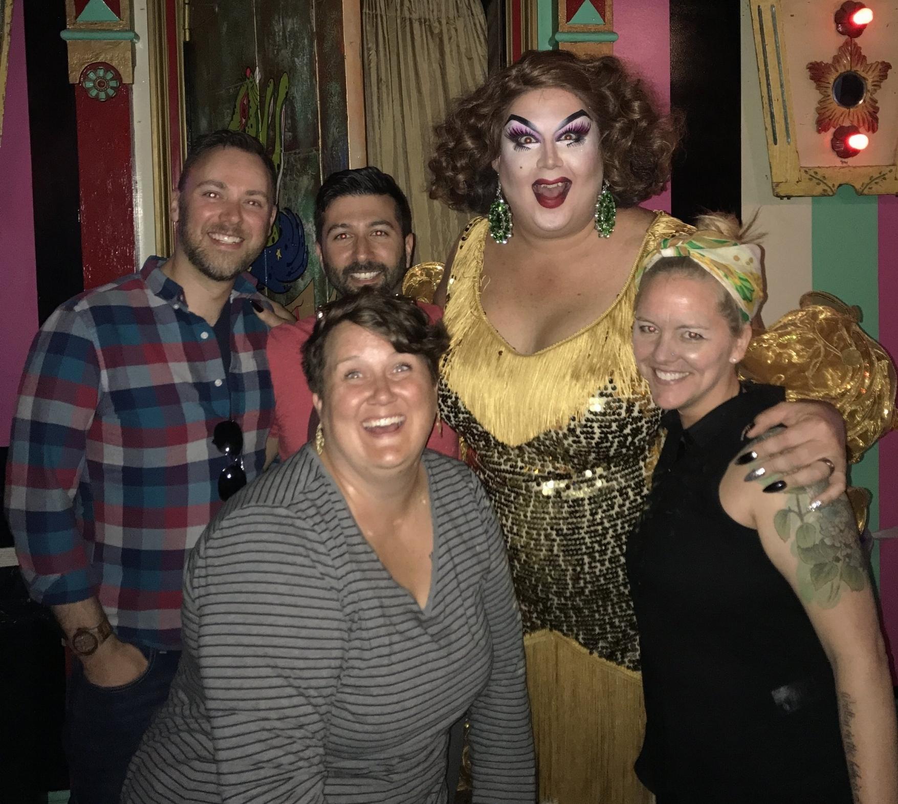 Robyn, Matt, Mama Tits, Kim, and myself. Best. Sunday. EVER.