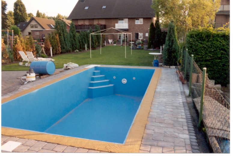 Der fertige Pool -