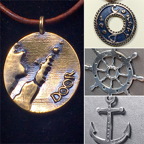 Custom themed jewelry allegoric to beautiful places and people.