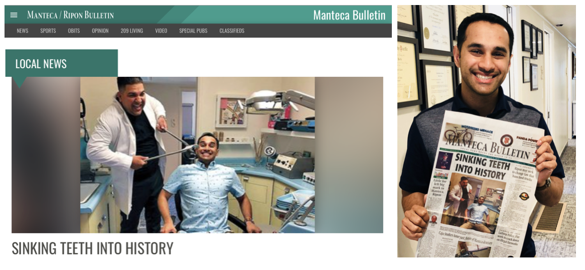SINKING TEETH INTO HISTORY: Cajee brothers honor past, future of Manteca dentistry - July 9, 2018