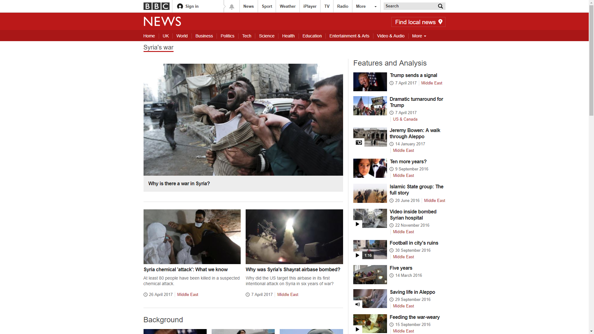 BBC Feature Page
