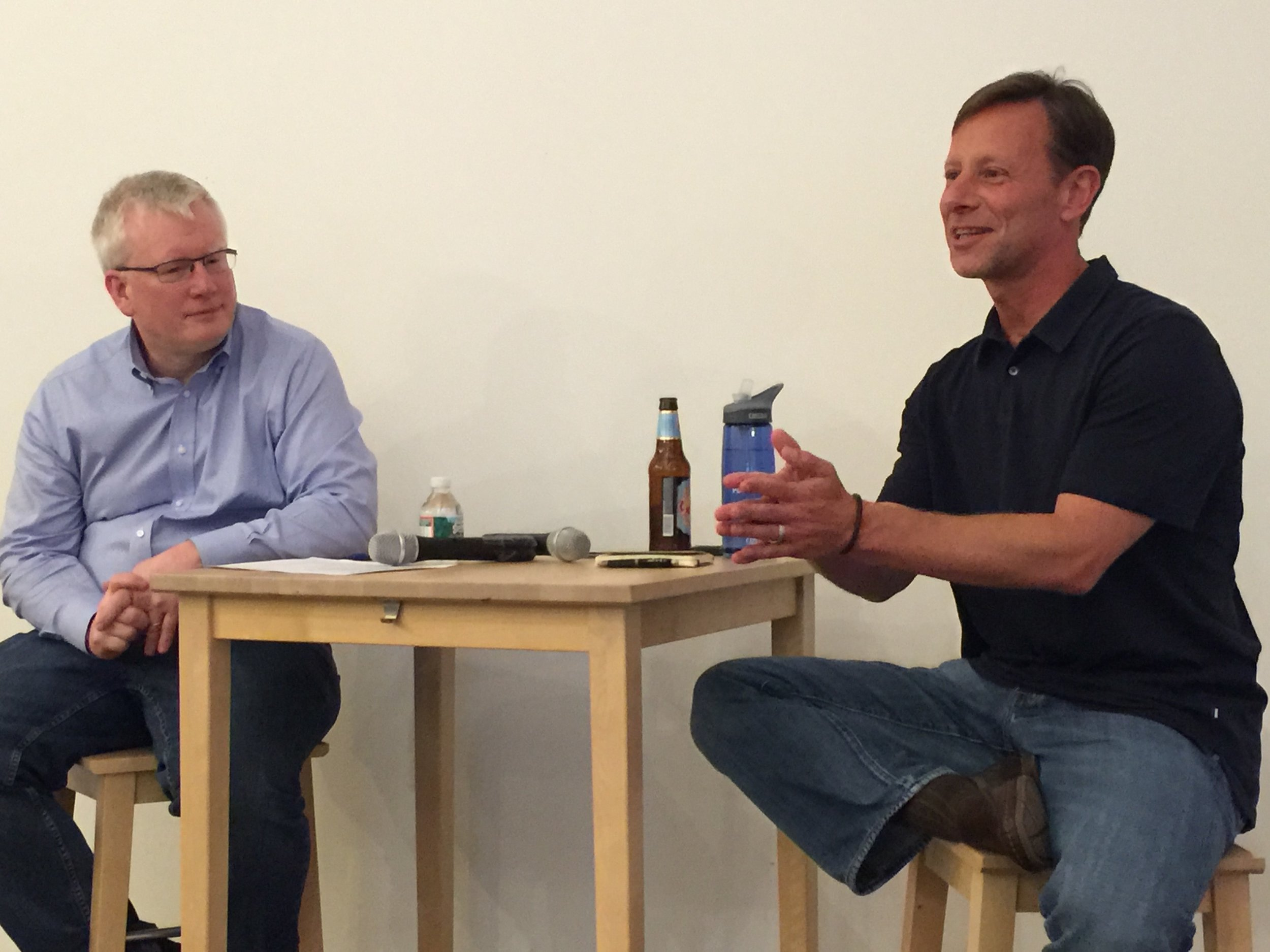 Startup Grind Princeton - A fireside chat with an entrepreneur each month at Tigerlabs. Here with Pete Muller, CEO of PDT.