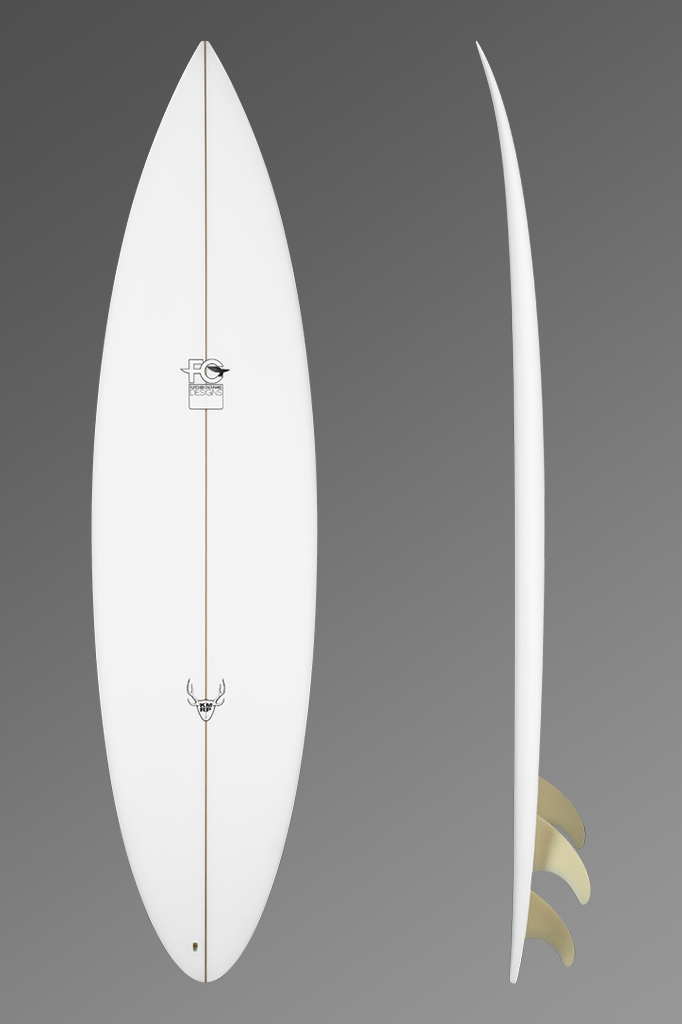 FCD Surfboards Shortboard KMRP Deck + Rocker Profile