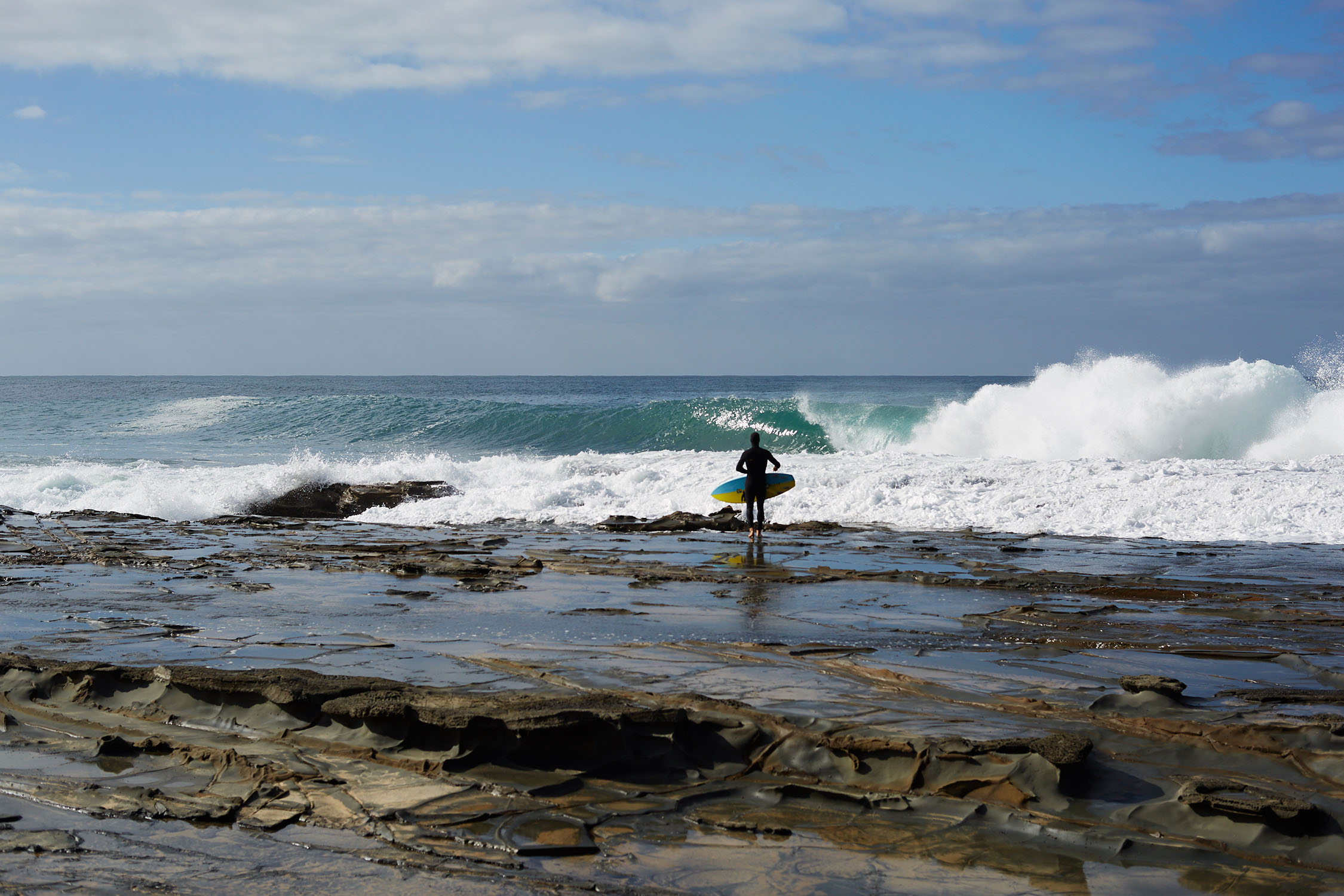 Dan Ross eyes his Southern Ocean prize.  Photo: Jon Frank