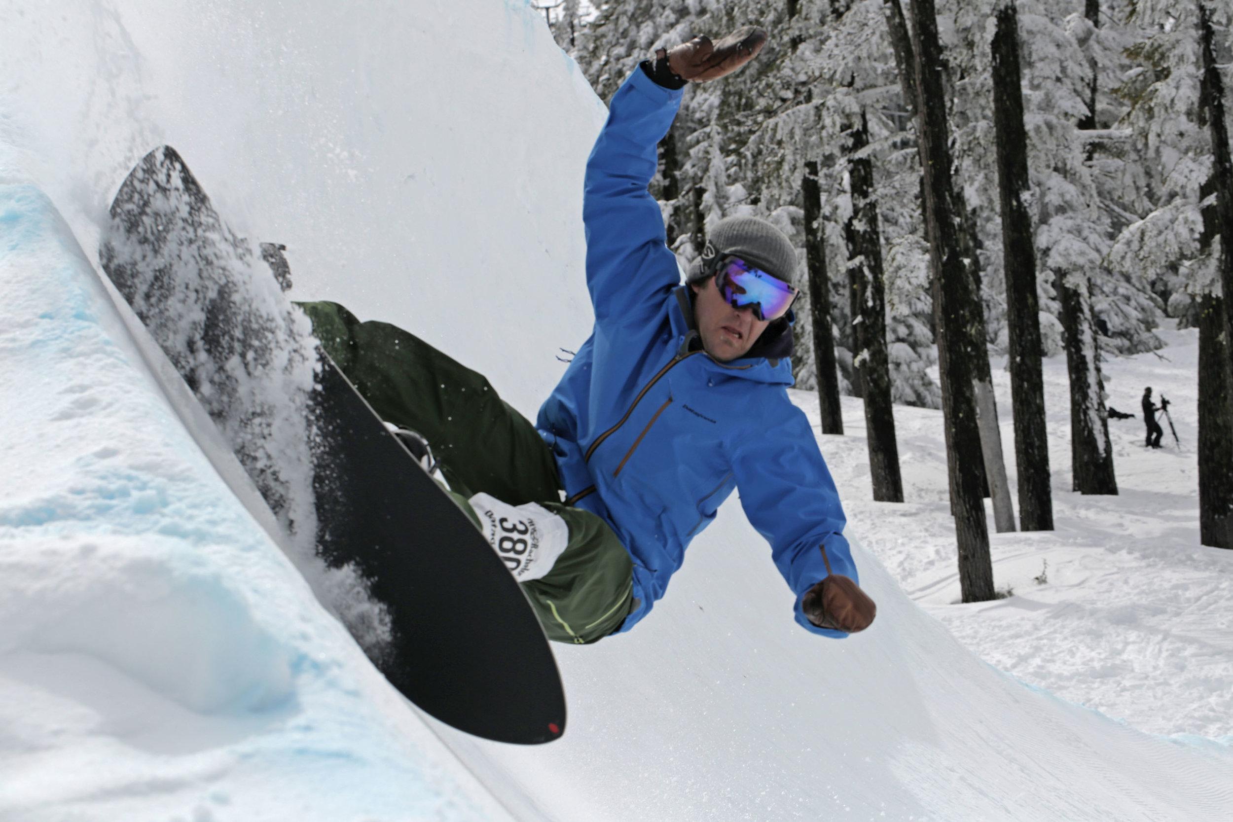 Joe Curren displaces both frozen and liquid water in fine form. Photo:Jason McFarlane