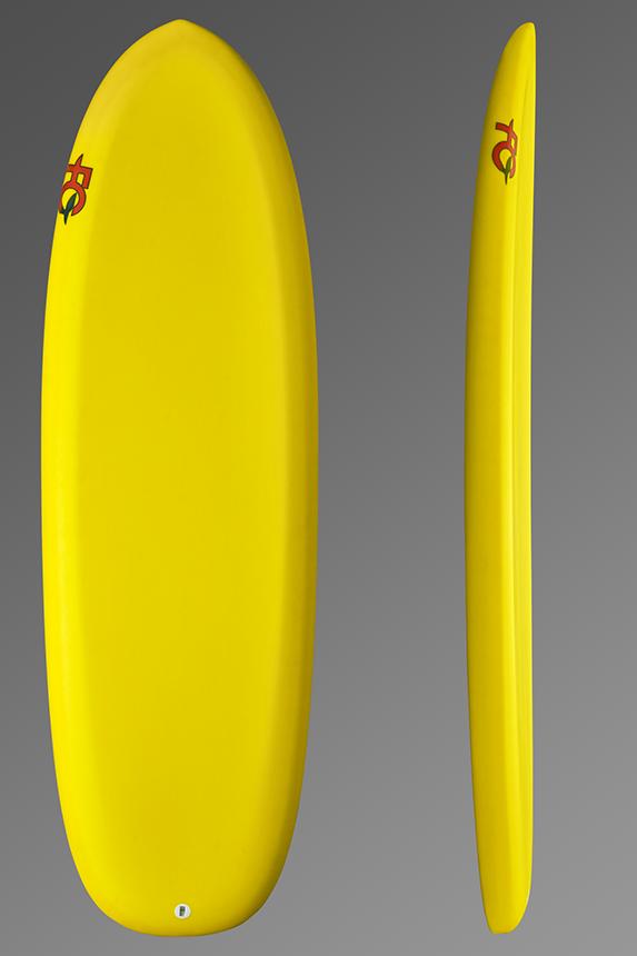 FCD Grasshopper Foil Surfboard_Top + Profile