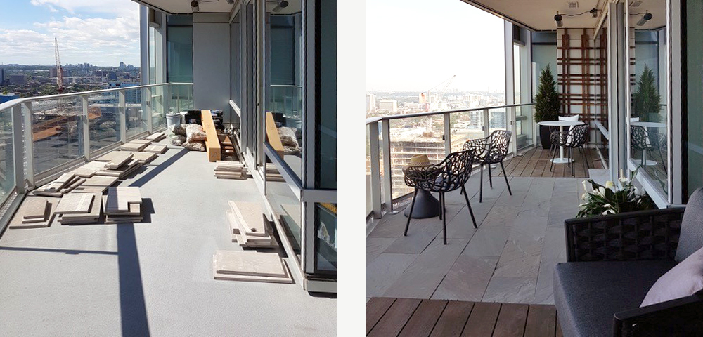 Beautiful balcony design fulfillment - Garden Connections