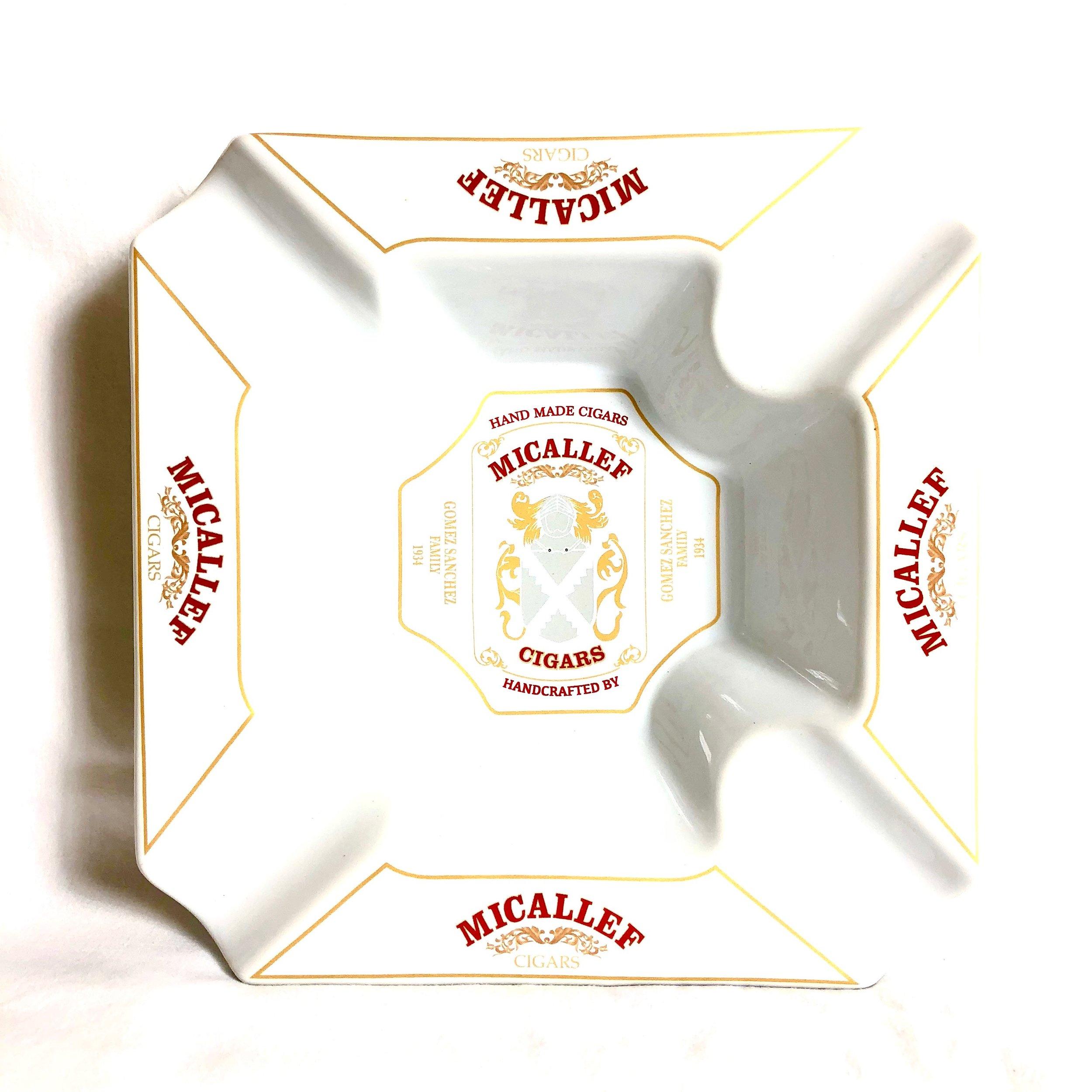Micallef Ceramic Ashtray White, $50.00