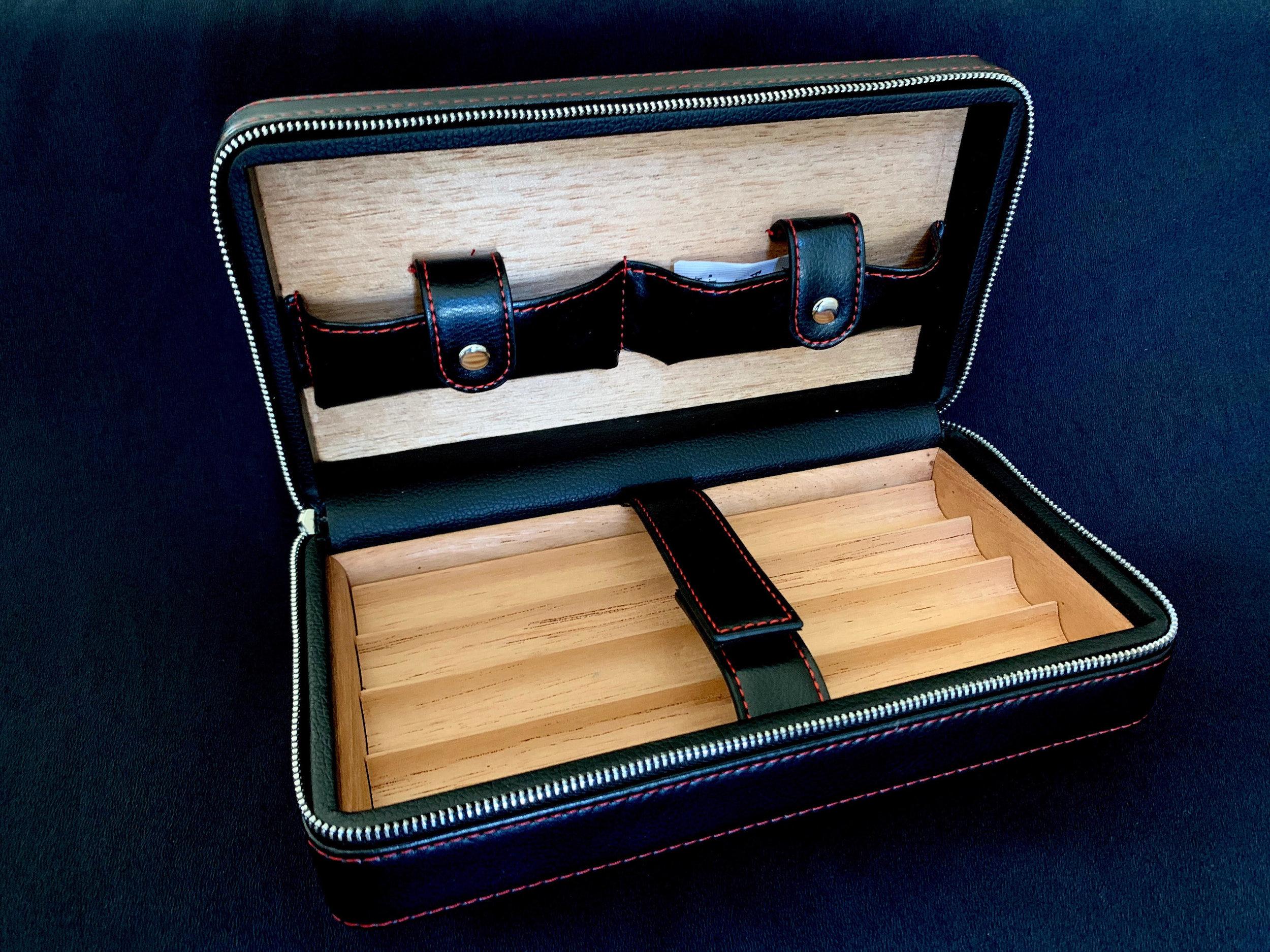 Leather Travel Humidor Black (inside), $100.00