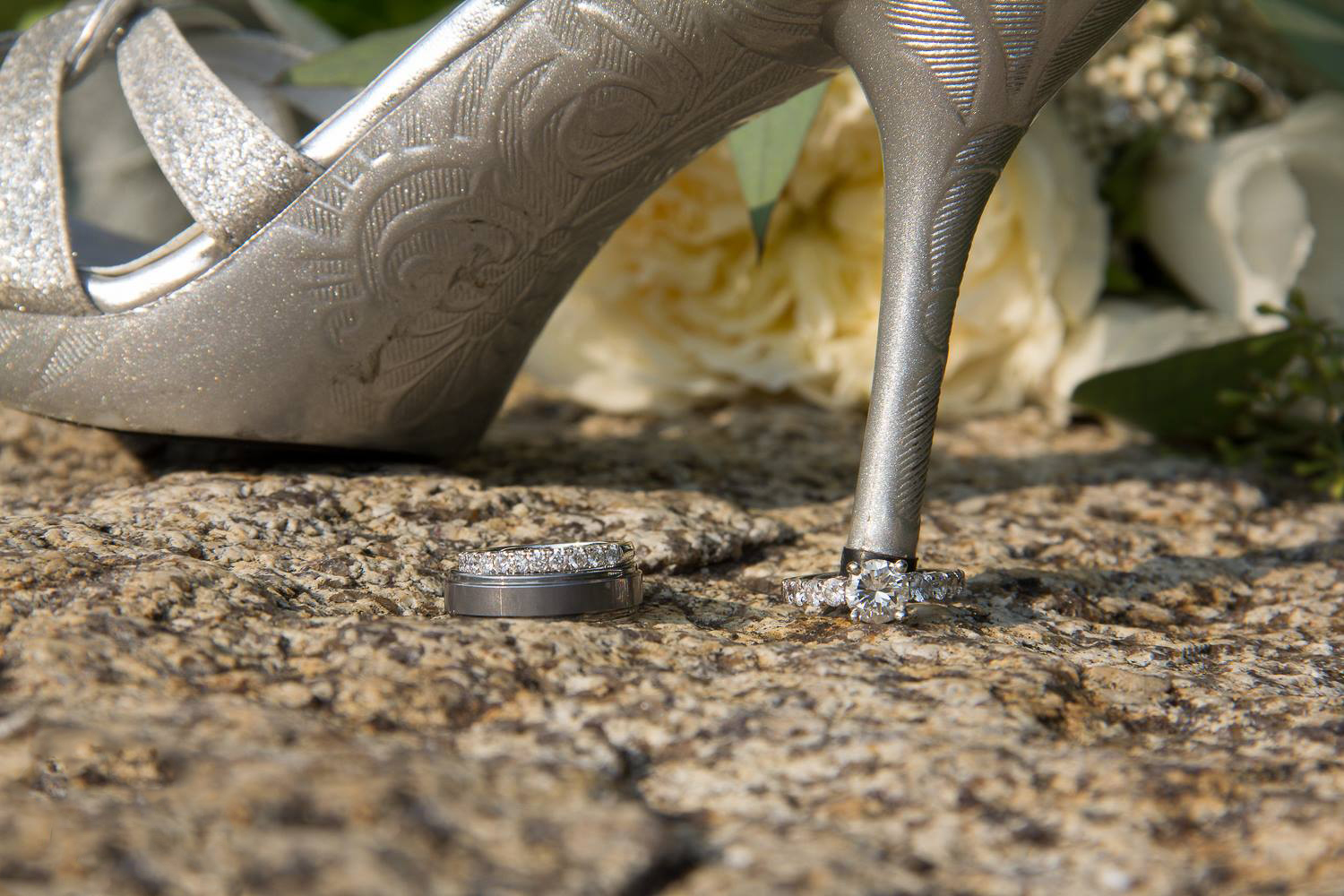 Wedding details shoes rings