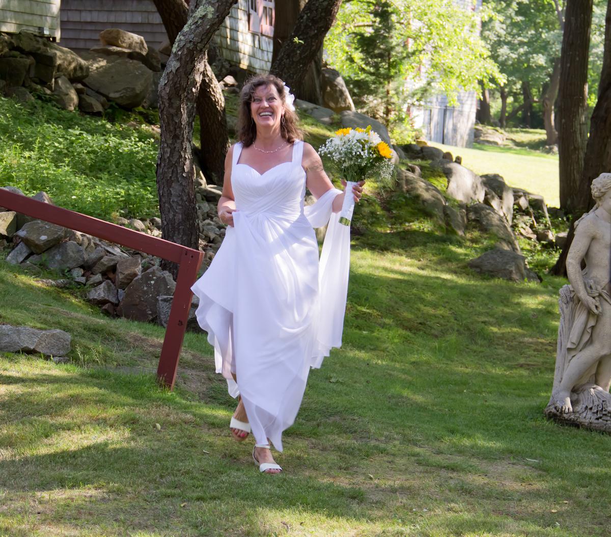 Wedding bride ceremony outdoors