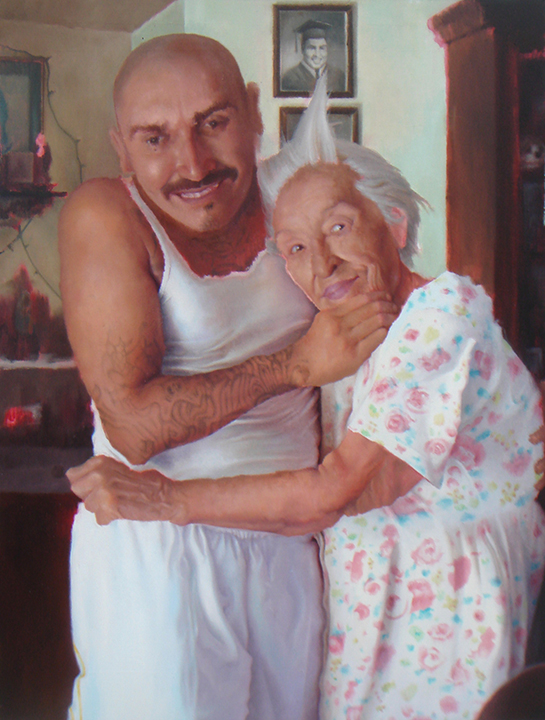 Michael Alvarez Vincent and Nana 2009 oil on canvas 40 x 30 sm.jpg
