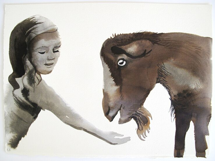 Copy of Girl and Goat