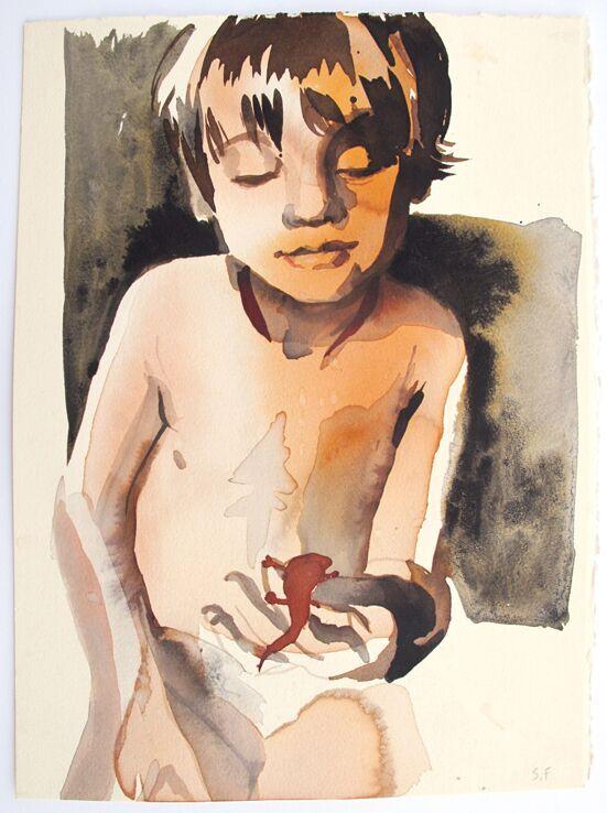 Copy of Boy Holding Newt
