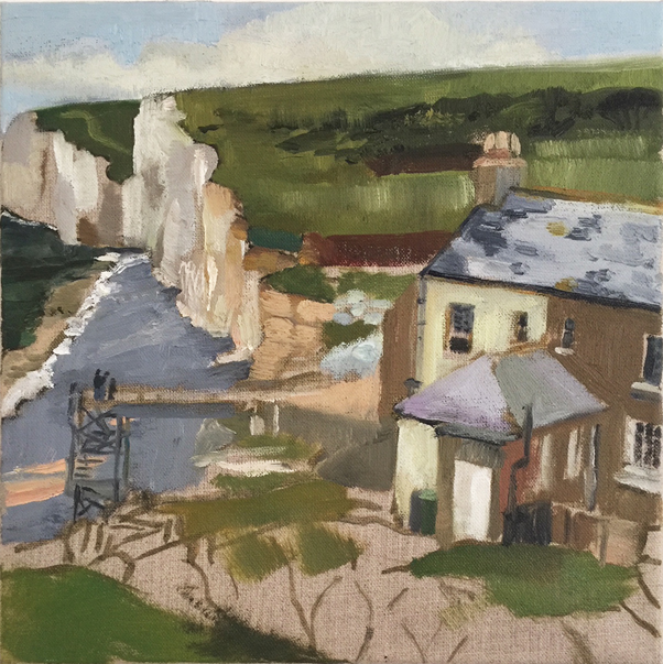 The Artist's Cottage, 30 x 30cm -sold
