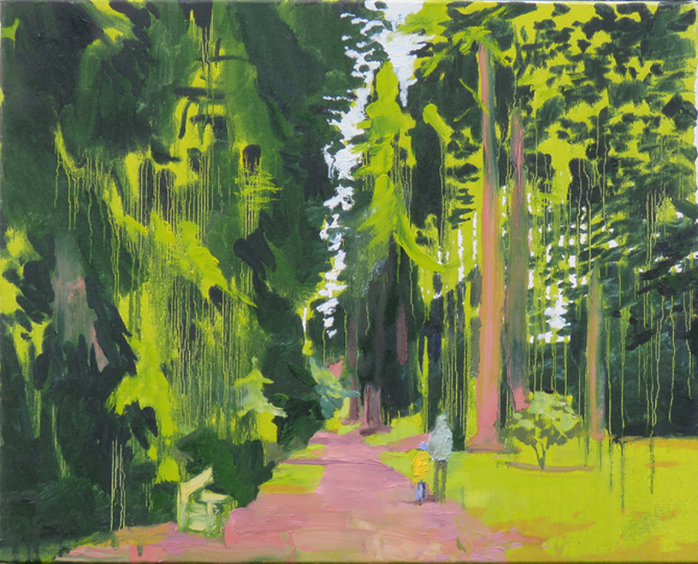 Walk in the Woods, 50 x 40cm - sold