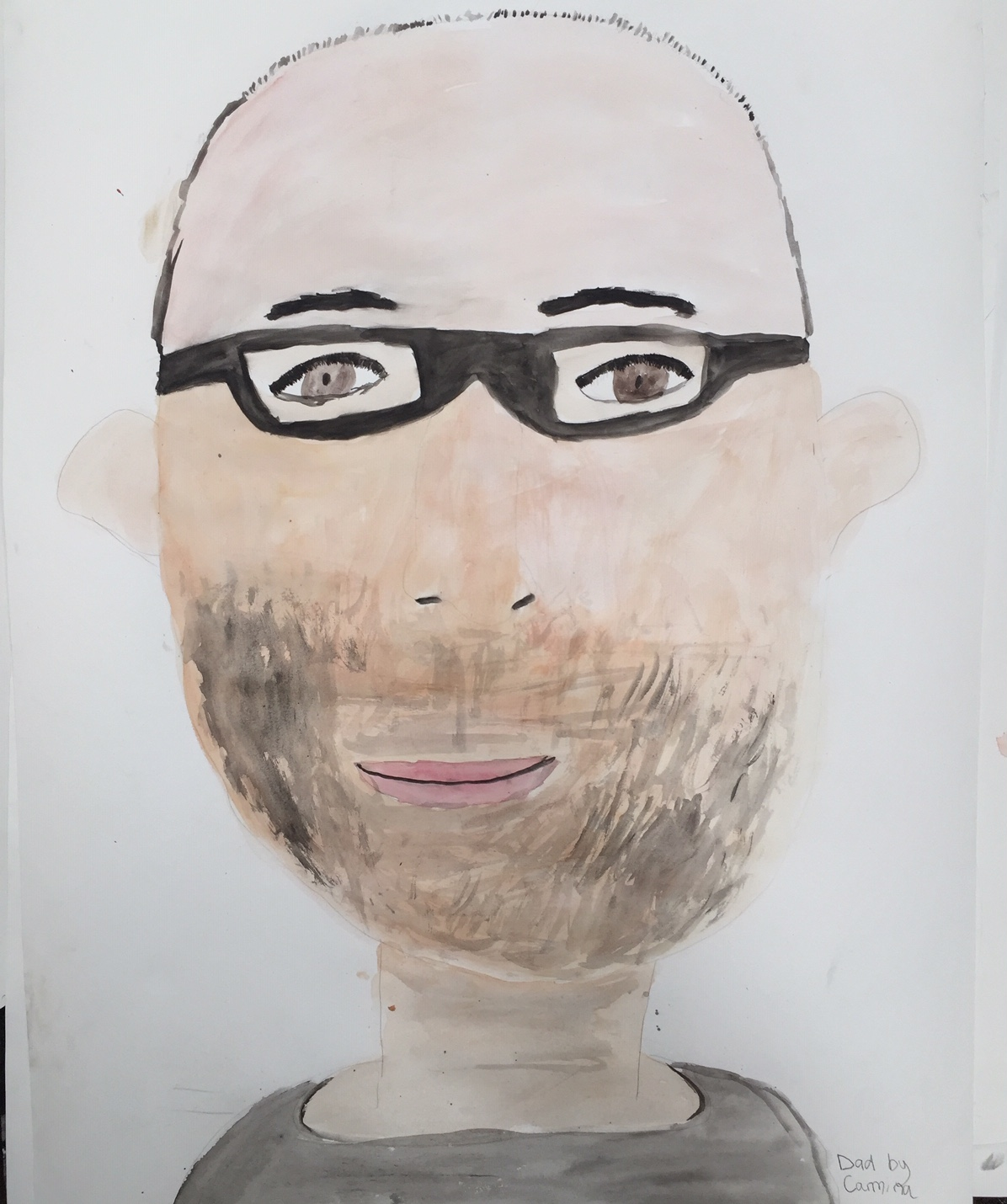 One of the community portraits made at the workshop