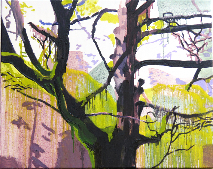 Tree climber, oil study oil on canvas, 50 x 40cm, £650