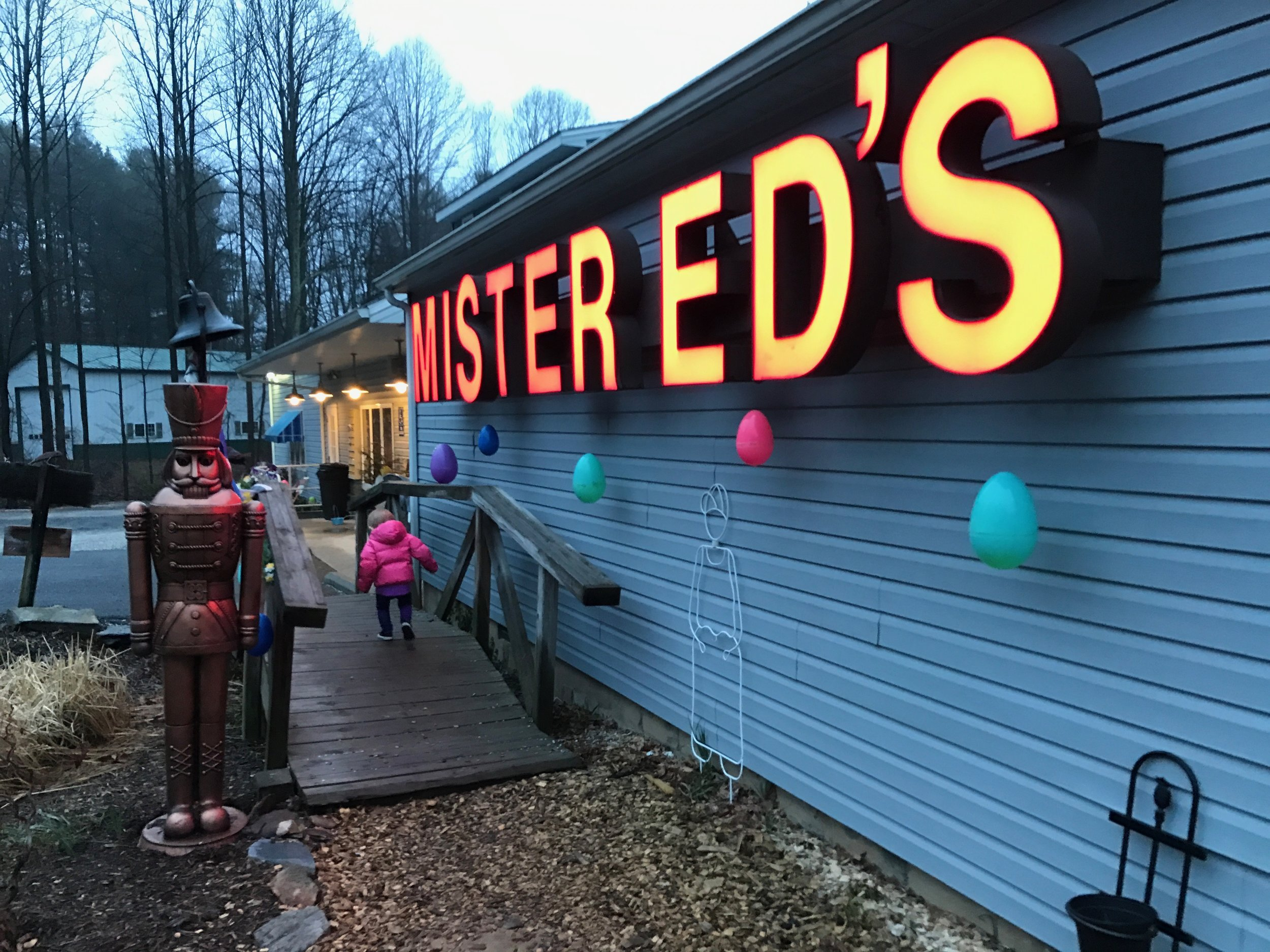 Isa stretching her legs at Mr. Ed's