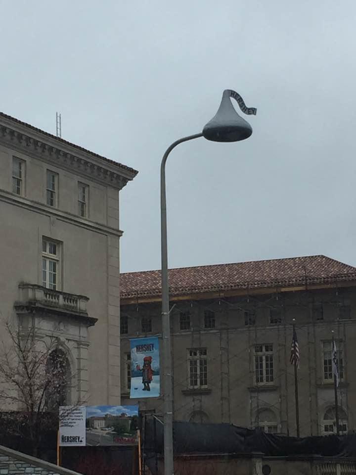 Interesting street lamps in Hershey, PA