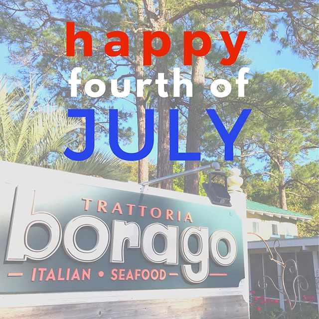 Happy July 4th, friends and family! 🇺🇸 We hope everyone has a safe and happy holiday. We will be closed tonight to celebrate and will resume normal business hours tomorrow. #borago30a #graytonbeach #southwalton #30a