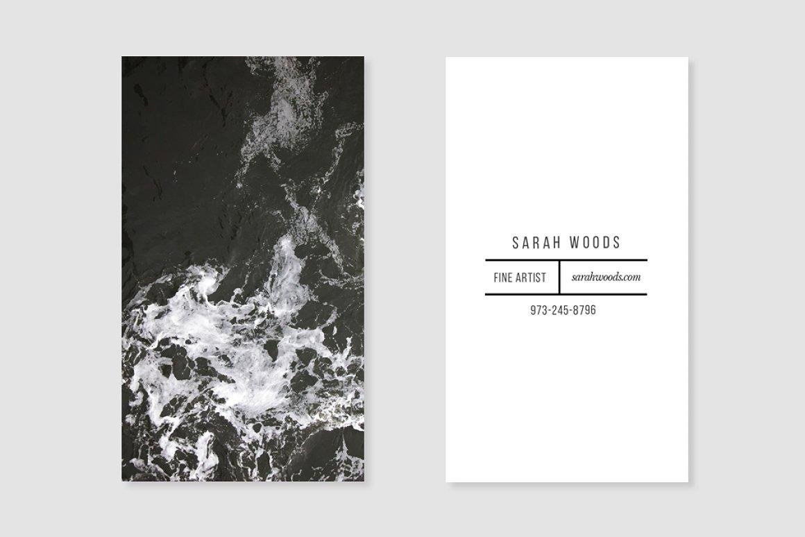 01. Simple No-Frills Black + White -