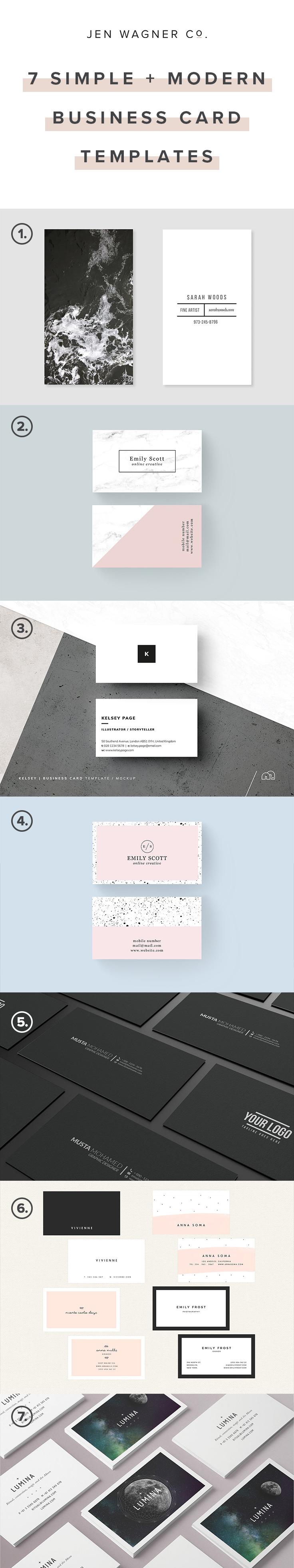 7 Simple + Modern Business Card Templates.jpg