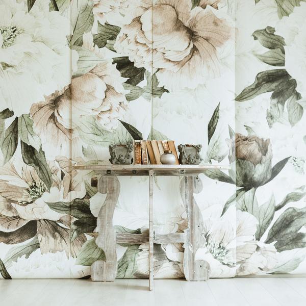 anewall vintage floral mural