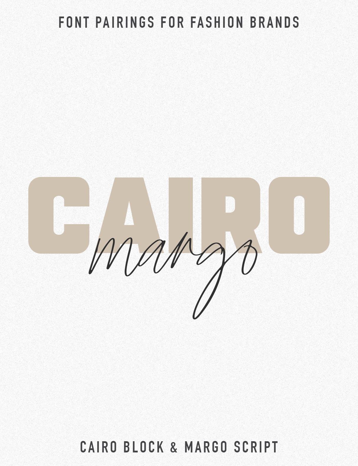 Jen Wagner Fashion Brand Font Pairings | Cairo Margo