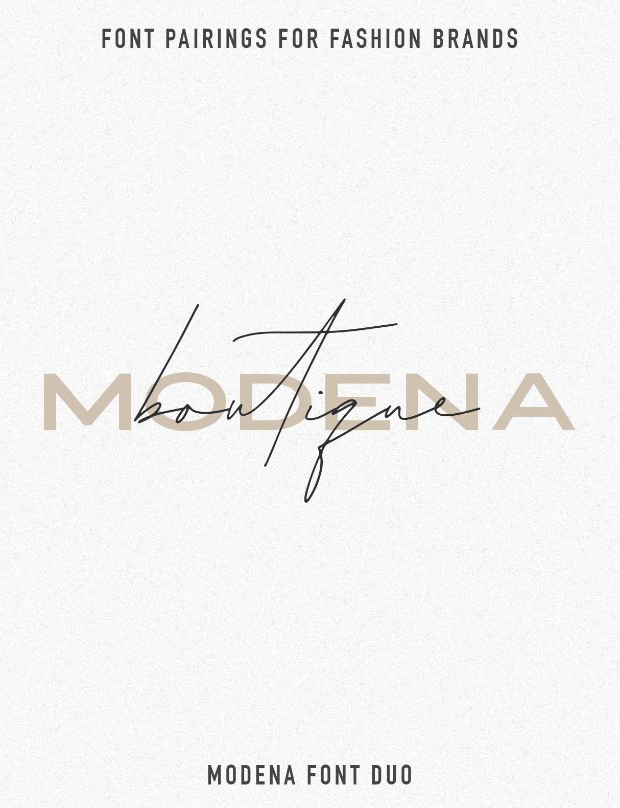 Jen Wagner Fashion Brand Font Pairings | Modena