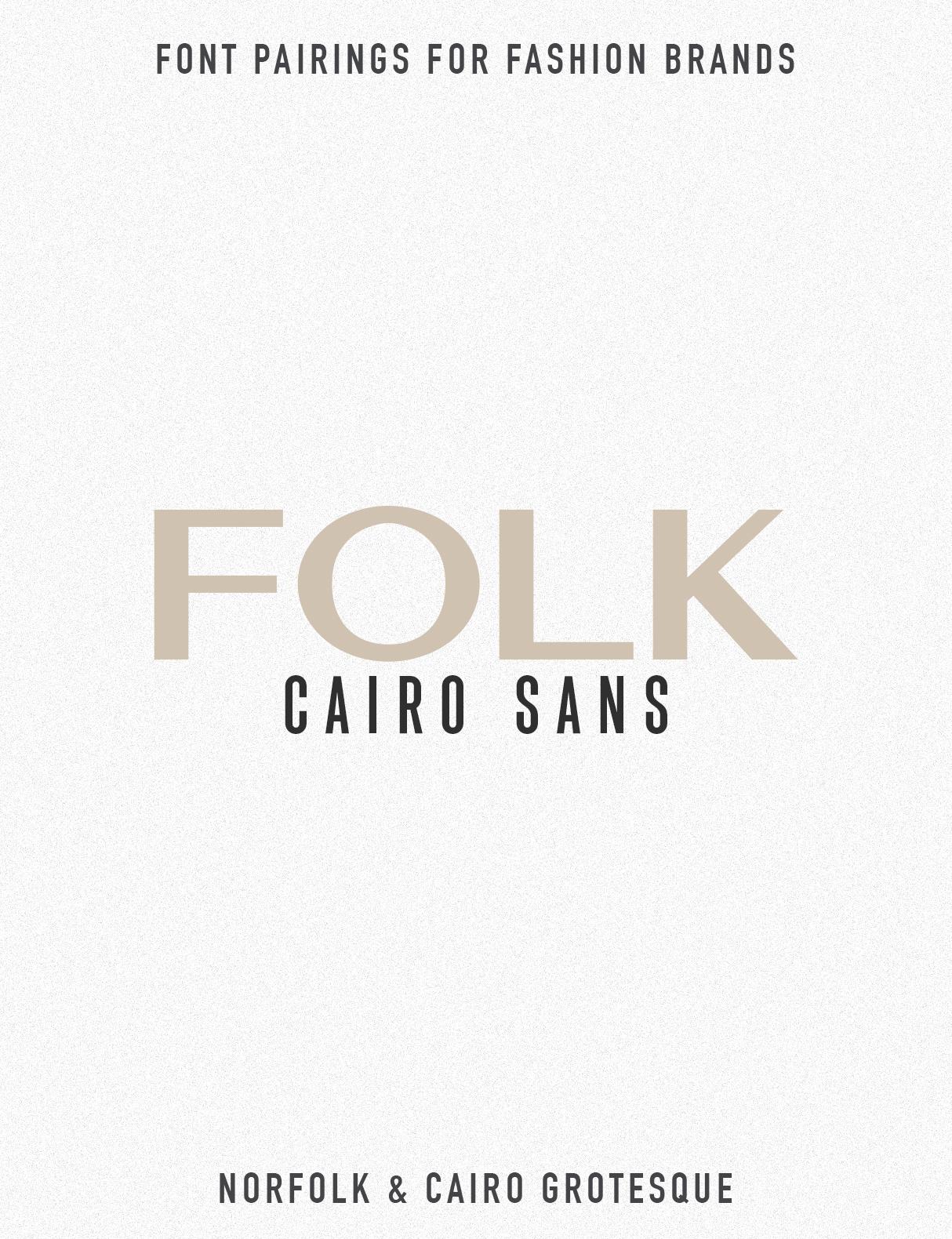 Jen Wagner Fashion Brand Font Pairings | Norfolk Cairo
