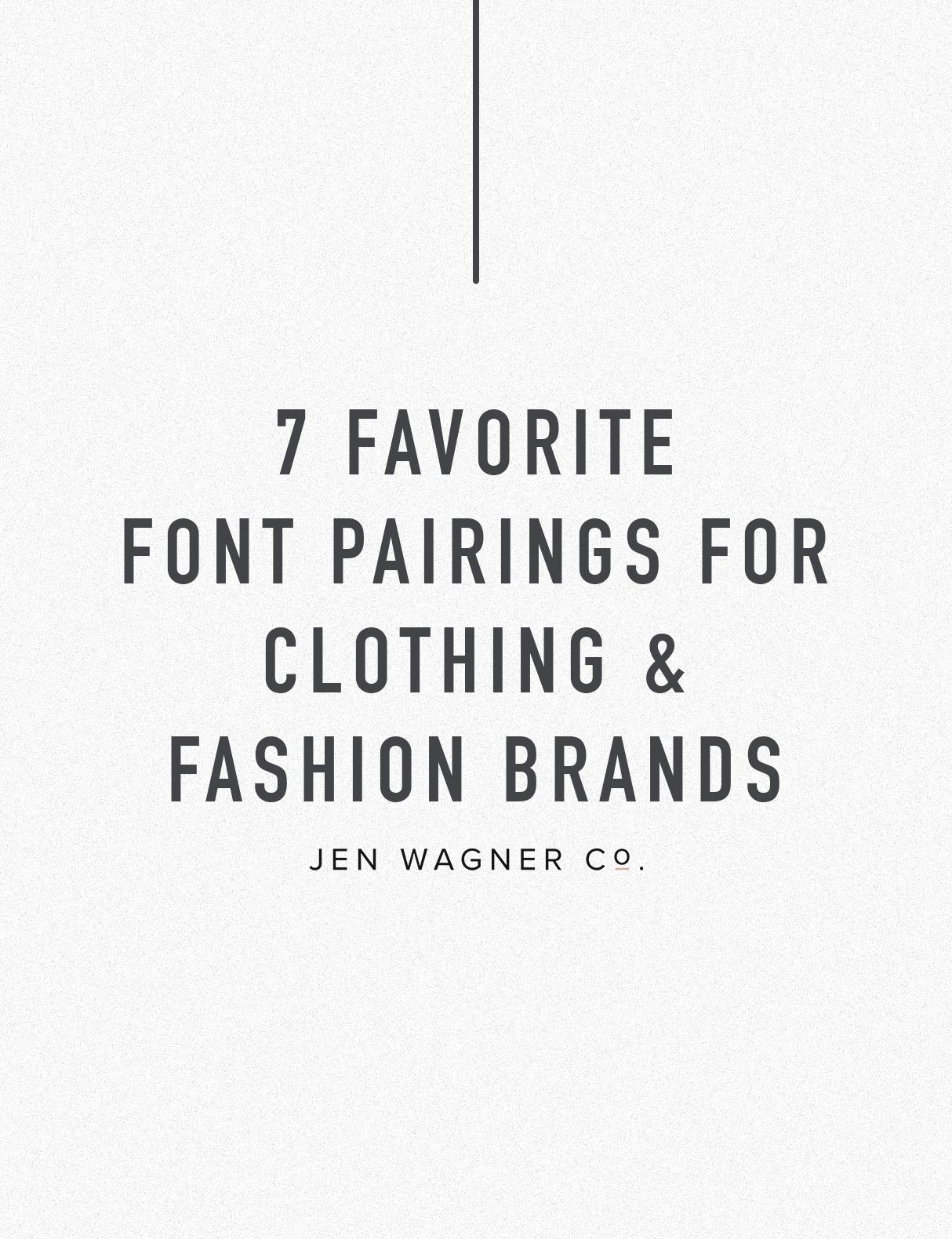 Jen Wagner Co Fashion Brand Font Pairings