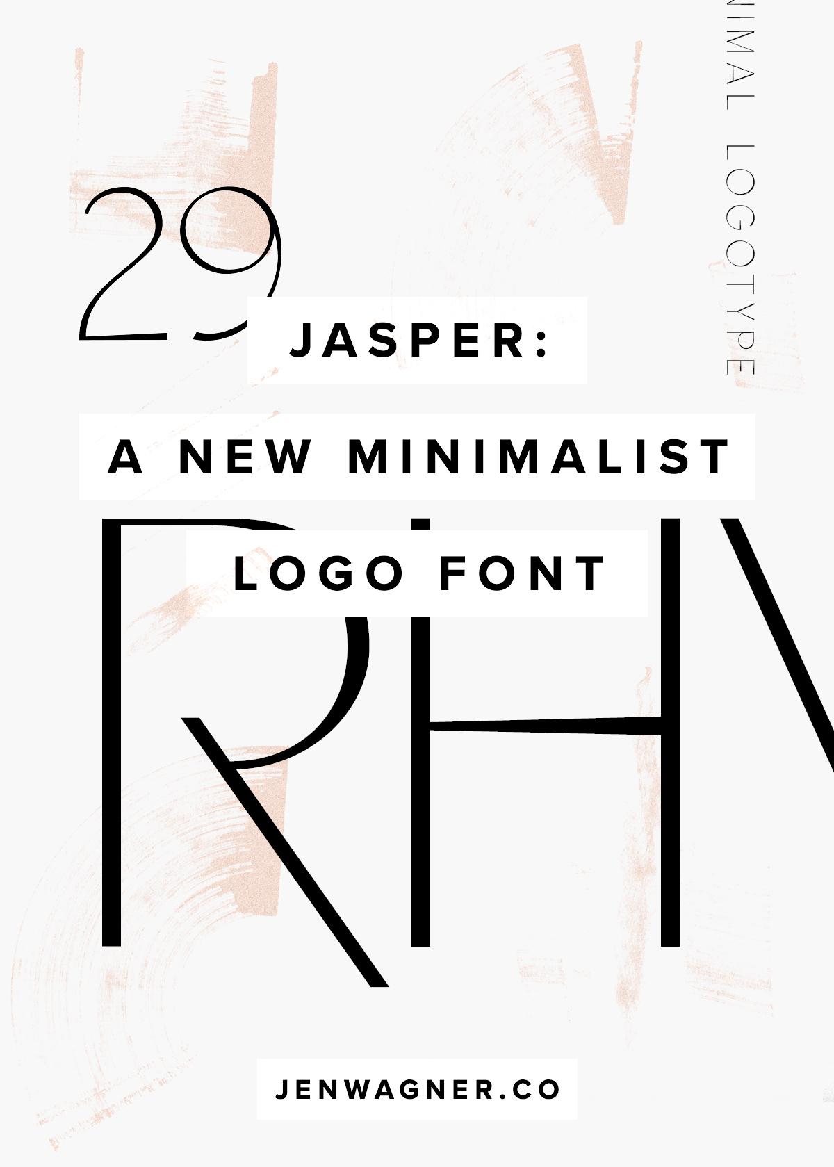 Jasper New Minimalist Font by Jen Wagner Co.
