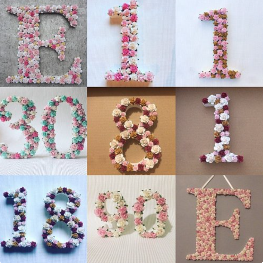 Simply Lovely makes - Sells a range of beautiful handcrafted products from floral letters to cute pieces for your home.I have secured you an etsy discount.Use the code LAURAH10 for 10% OFF when you spend £10.https://www.etsy.com/uk/shop/Simplylovelymakesuk