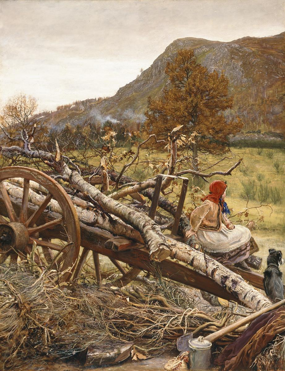 John Everett Millais  Winter Fuel  1873 © Manchester City Galleries