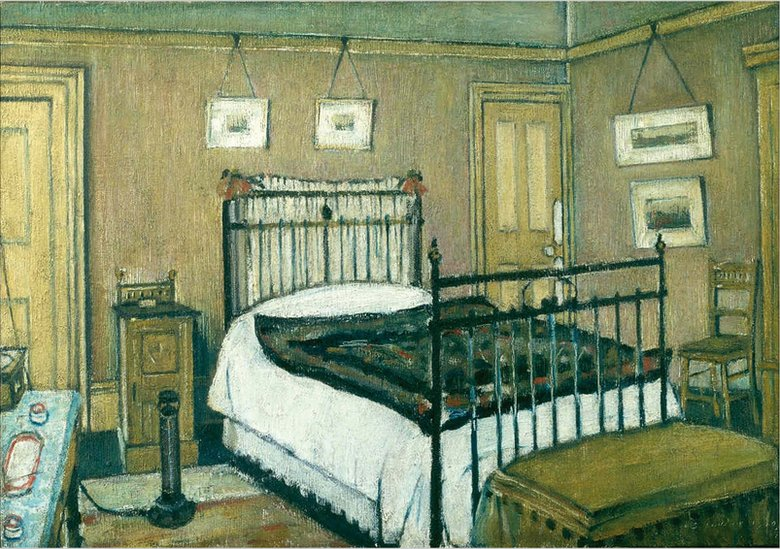 L.S. Lowry The Bedroom, Pendlebury 1940