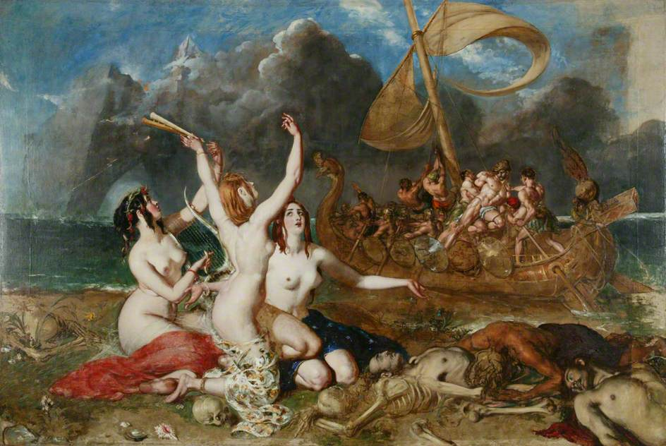 William Etty  The Sirens and Ulysses   1837 © Manchester City Galleries