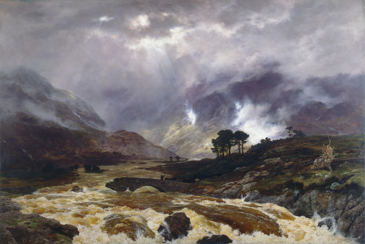 A Spate in the Highlands, 1866, Peter Graham ©Manchester City Galleries   Currently on display in Gallery 8
