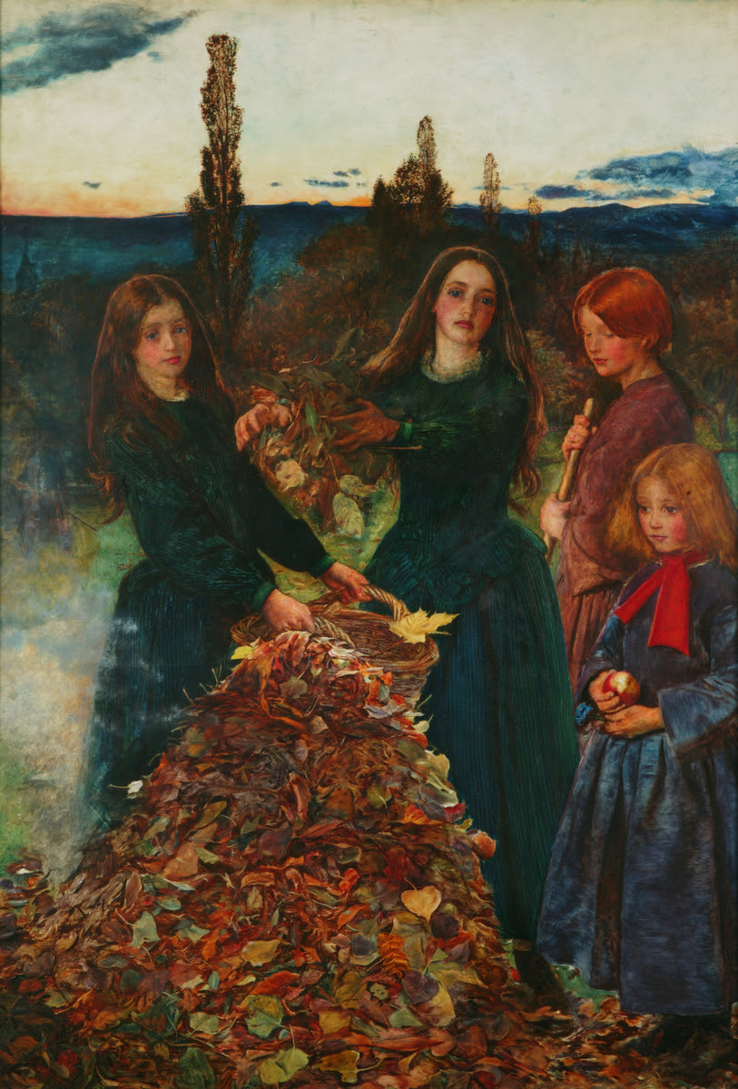 Autumn Leaves, 1856,John Everett Millais © Manchester City Galleries   Currently on display in Gallery 8
