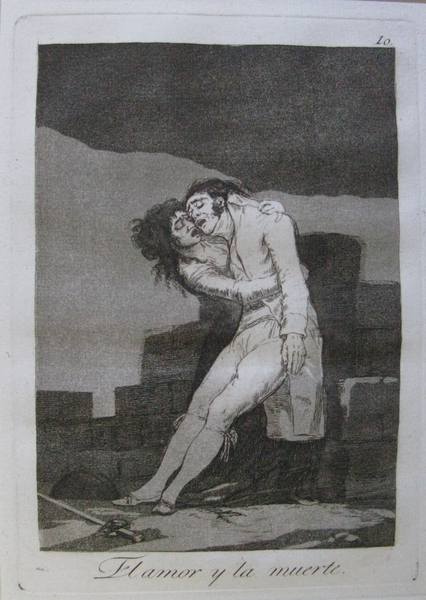 El Amor Y La Muerte (Love and Death)  (1799)Francisco Goya Y Lucientes ©Manchester City Galleries.