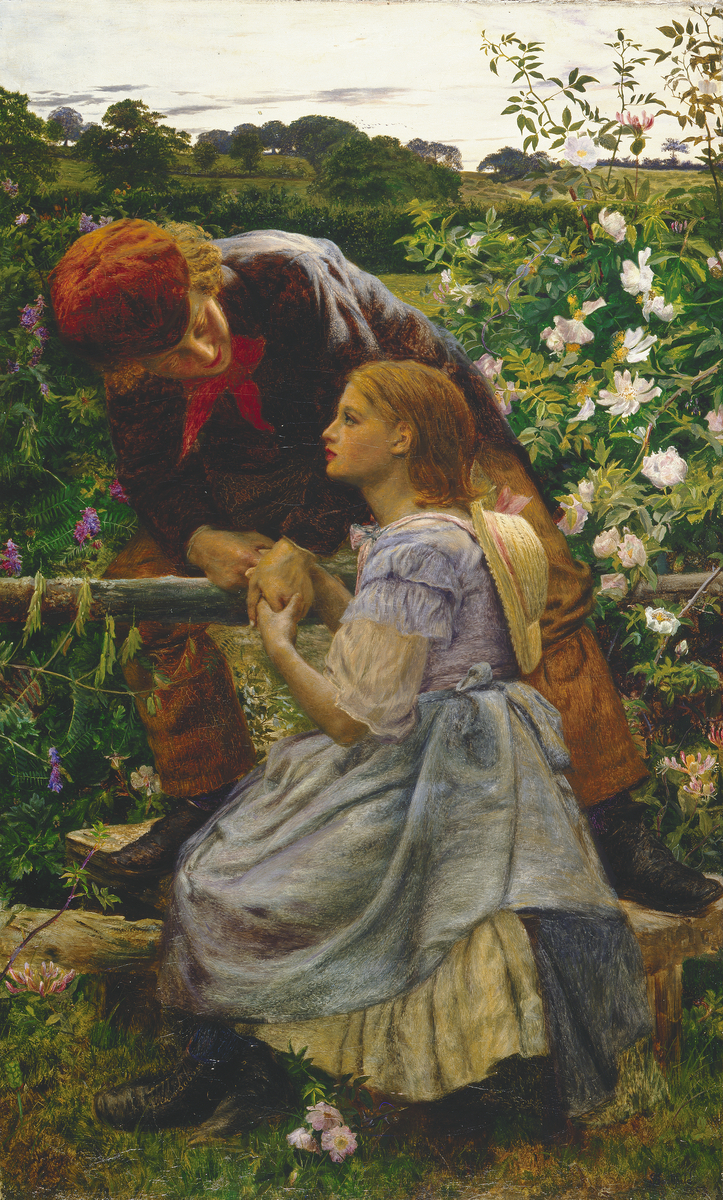 Early Lovers  (1858) Frederick Smallfield ARWS © Manchester City Galleries