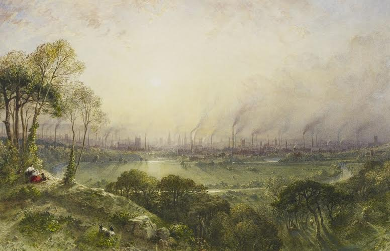 Manchester from Kersal Moor  (1852) by William Wyld / credit: Royal Trust Collection