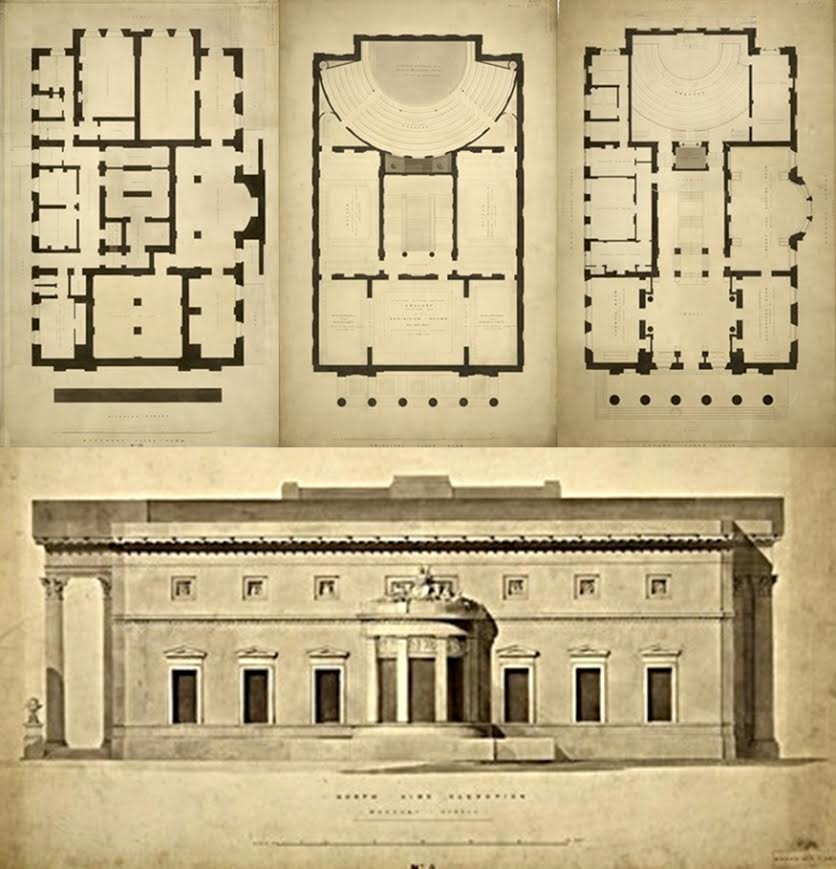 Proposal for the Royal Manchester Institution, 1824, by John Papworth / credit: RIBA